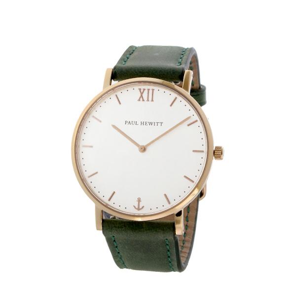 ポールヒューイット Sailor Line 36mm ユニセックス 腕時計 時計 6451710 PHSARSMW12S ホワイト/グリーン