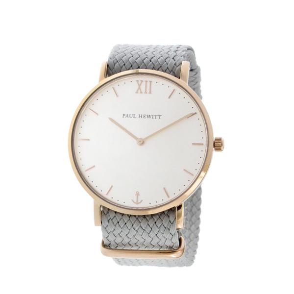 ポールヒューイット Sailor Line 39mm ユニセックス 腕時計 時計 6452219 PHSARSTW18S ホワイト/グレー