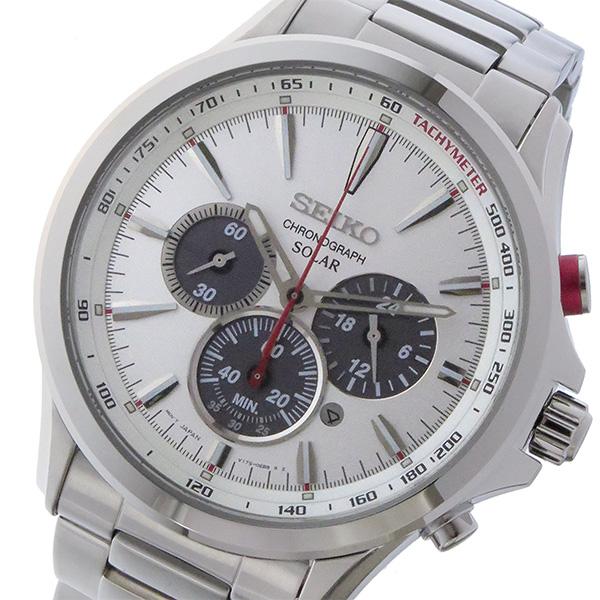 セイコー SEIKO クロノ ソーラー メンズ 腕時計 時計 SSC491P1 シルバー