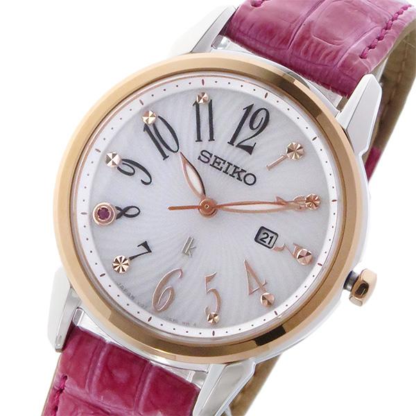 セイコー SEIKO ルキア LUKIA 限定モデル ソーラー レディース 腕時計 SUT306J1 ホワイト【送料無料】