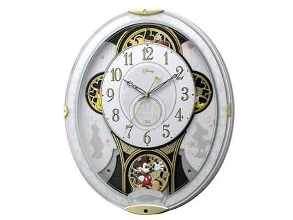 シチズン CITIZEN リズム時計製 からくり電波掛け時計 4MN509MC03