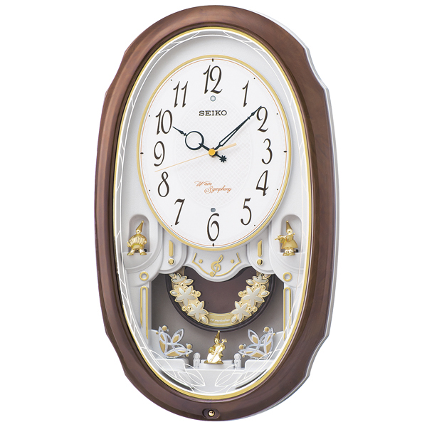 セイコー SEIKO アミューズ 掛け時計 AM260A ホワイト