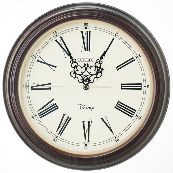 セイコー SEIKO 大人ディズニー 掛け時計 FS507B ホワイト/ブラウン