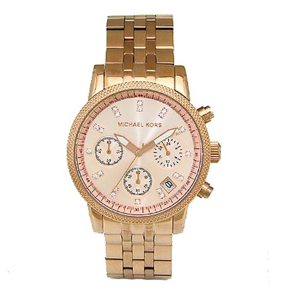 マイケルコース MICHAELKORS クオーツ クロノ レディース 腕時計 時計 MK6077 ピンク