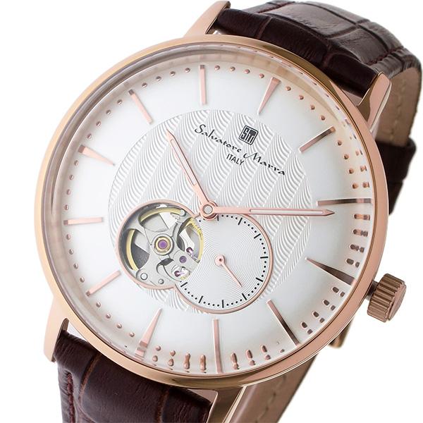 サルバトーレ マーラ SALVATORE MARRA 自動巻き メンズ 腕時計 時計 SM17114-PGWH ホワイト/ピンクゴールド