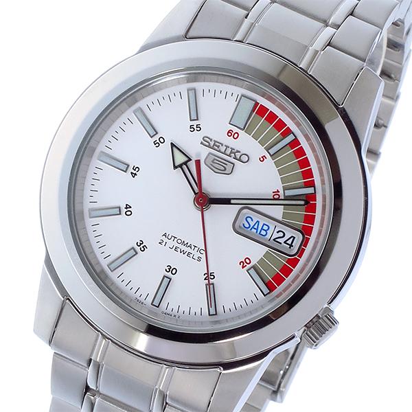 セイコー SEIKO セイコー 5 SEIKO5 自動巻き メンズ 腕時計 時計 SNKK25K1 ホワイト