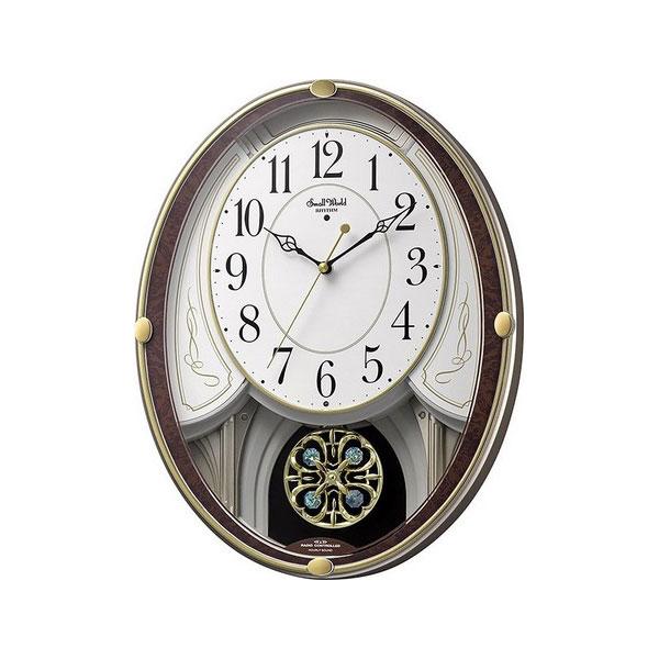 リズム RHYTHM スモールワールドセリーナS ユニセックス 掛け時計 4MN549RH23 ホワイト