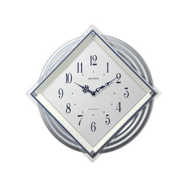 リズム RHYTHM ビュレッタ ユニセックス 掛け時計 4MX405SR03 ホワイト
