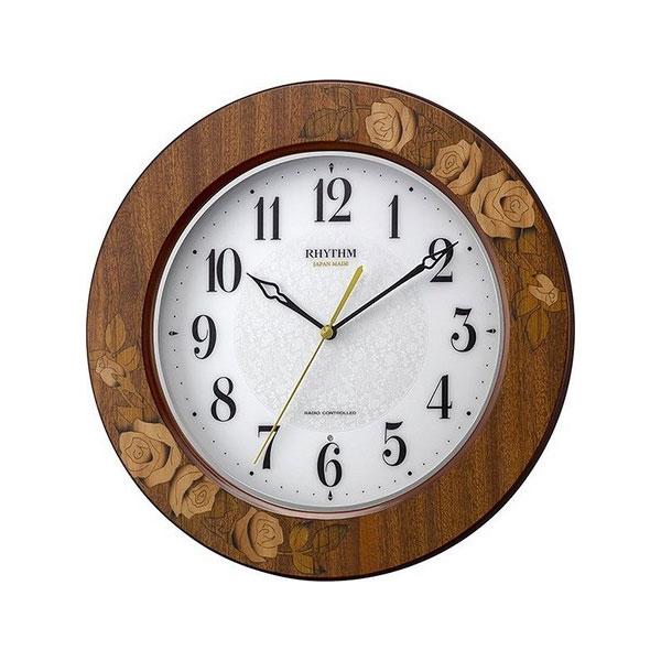 リズム RHYTHM アマービレM520 ユニセックス 掛け時計 8MY520SR06 ホワイト