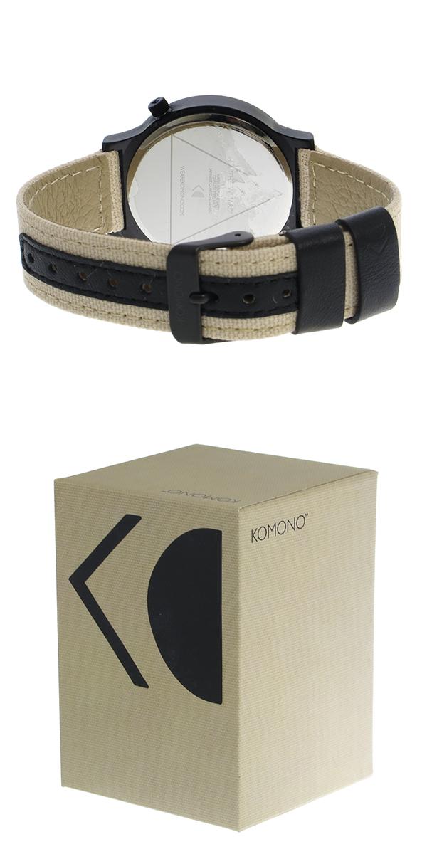 コモノ KOMONO Wizard Heritage-Desert Black クオーツ レディース 腕時計 時計 KOM-W1359 マットシルバー【ポイント10倍】【楽ギフ_包装】【inte_D1806】