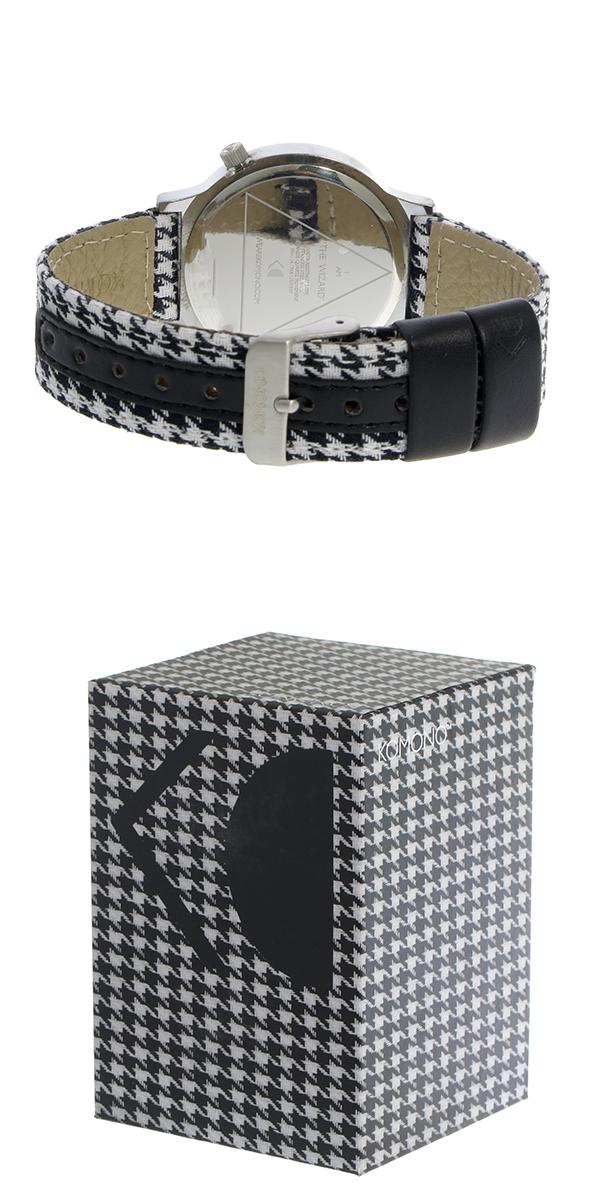 コモノ KOMONO Wizard Heritage-Houndstooth クオーツ レディース 腕時計 時計 KOM-W1364 シルバー【ポイント10倍】【楽ギフ_包装】【inte_D1806】