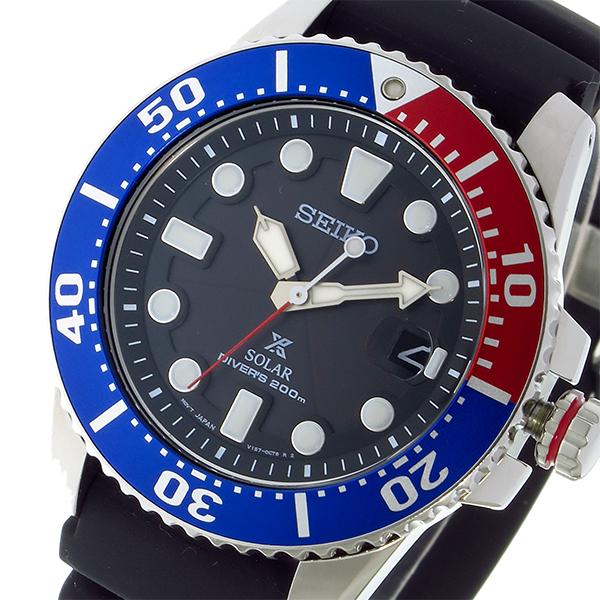 セイコー SEIKO プロスペックス PROSPEX ソーラー クオーツ メンズ 腕時計 時計 SNE439P1 ブラック