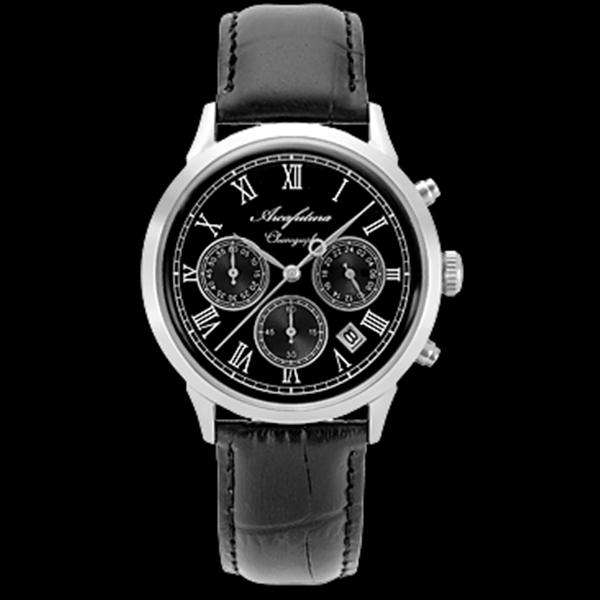 アルカフトゥーラ ARCA FUTURA クオーツ メンズ クロノグラフ 腕時計 時計 0001-01 ブラック