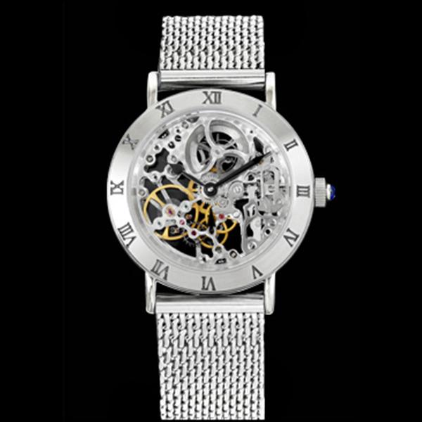 アルカフトゥーラ ARCA FUTURA 手巻き メンズ 腕時計 時計 スケルトン 212SK-M シルバー