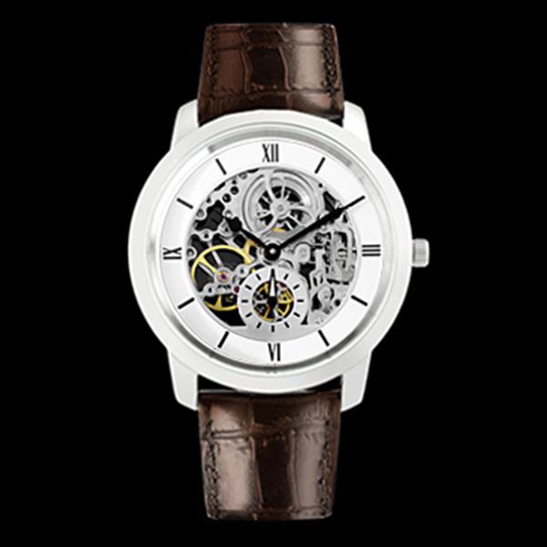 アルカフトゥーラ ARCA FUTURA 手巻き メンズ 腕時計 時計 スケルトン 323SKWBR ホワイト/ブラウン