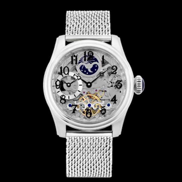 アルカフトゥーラ ARCA FUTURA 自動巻き メンズ 腕時計 時計 スケルトン 965A-M シルバー