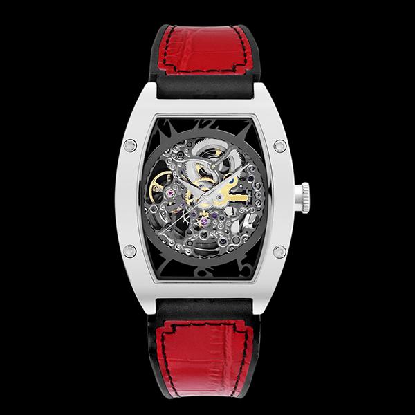 アルカフトゥーラ ARCA FUTURA 自動巻き メンズ 腕時計 時計 スケルトン 978ERD レッド