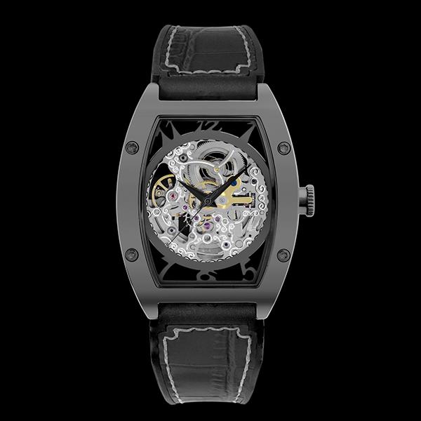 アルカフトゥーラ ARCA FUTURA 自動巻き メンズ 腕時計 時計 スケルトン 978IBK ブラック