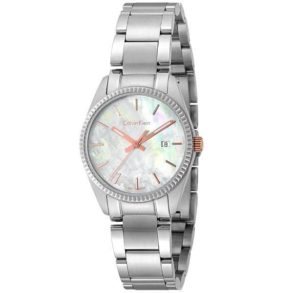 カルバン クライン Calvin Klein アライアンス クオーツ レディース 腕時計 時計 K5R33B.4G ホワイトパール