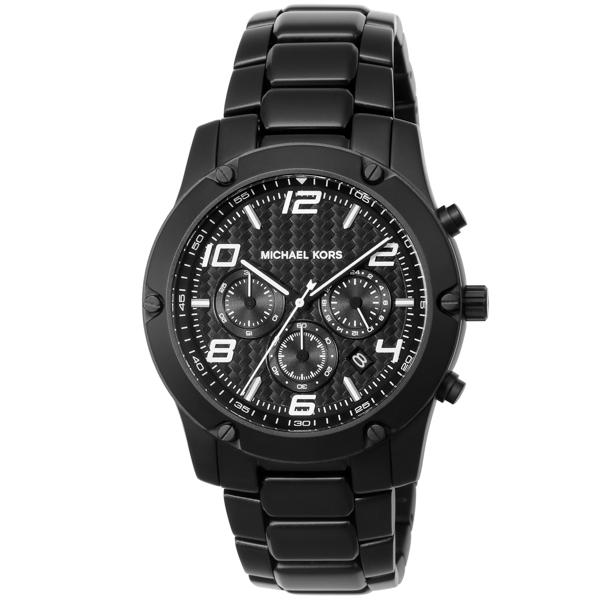 マイケル コース MICHAEL KORS Gage クロノ クオーツ メンズ 腕時計 時計 MK8473 ブラック【ポイント10倍】