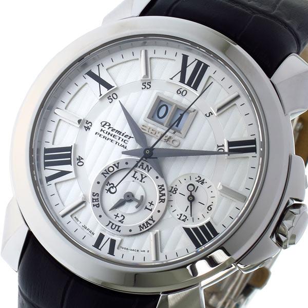 セイコー SEIKO プルミエ Premier キネティック メンズ 腕時計 SNP143P1 シルバー【送料無料】