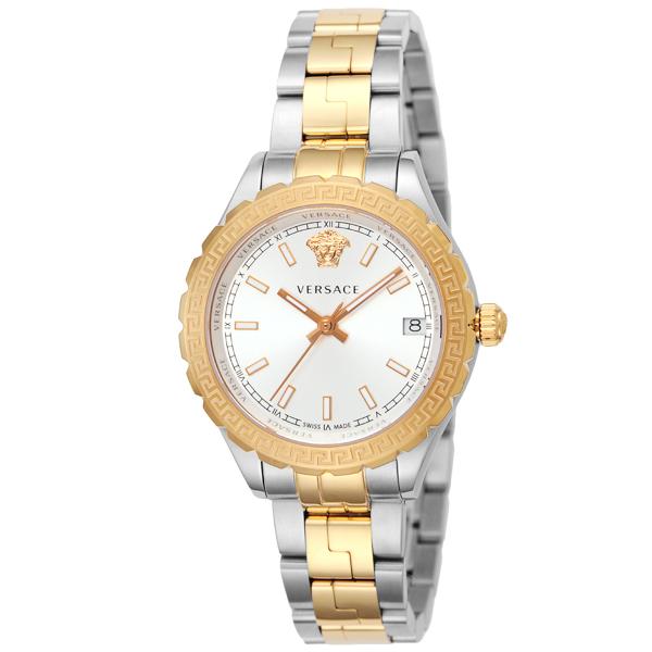 ヴェルサーチ VERSACE HELLENYIUM クオーツ レディース 腕時計 V12030015 シルバー/イエローゴールド【送料無料】