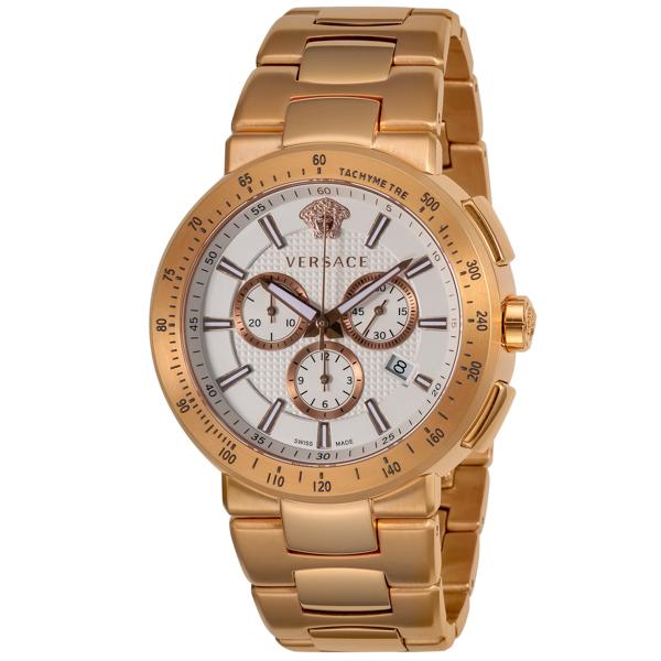 ヴェルサーチ VERSACE MYSTIQUESPORT クロノ クオーツ メンズ 腕時計 VFG180016 ホワイト【送料無料】