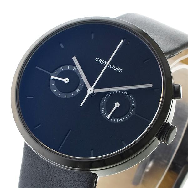 グレイアワーズ GREY HOURS クォーツ メンズ 腕時計 時計 GH-VSGH1 ブラック