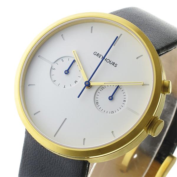 グレイアワーズ GREY HOURS クォーツ メンズ 腕時計 時計 GH-VSGH4 ホワイト