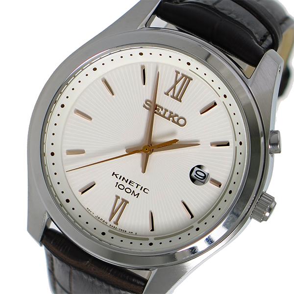 セイコー SEIKO キネティック クオーツ メンズ 腕時計 時計 SKA773P1 ホワイト