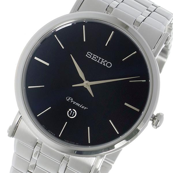 セイコー SEIKO プルミエ Premier クオーツ メンズ 腕時計 時計 SKP399P1 ブラック