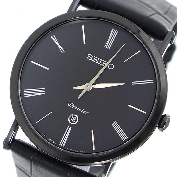 セイコー SEIKO プルミエ Premier クオーツ メンズ 腕時計 時計 SKP401P1 ブラック