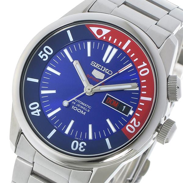 セイコー SEIKO セイコー5 SEIKO 5 自動巻き メンズ 腕時計 時計 SRPB25K1 ブルー/レッド