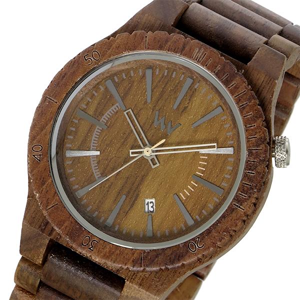 ウィーウッド WEWOOD 木製 ASSUNT NUT アサント メンズ 腕時計 時計 9818047 ブラウン 国内正規