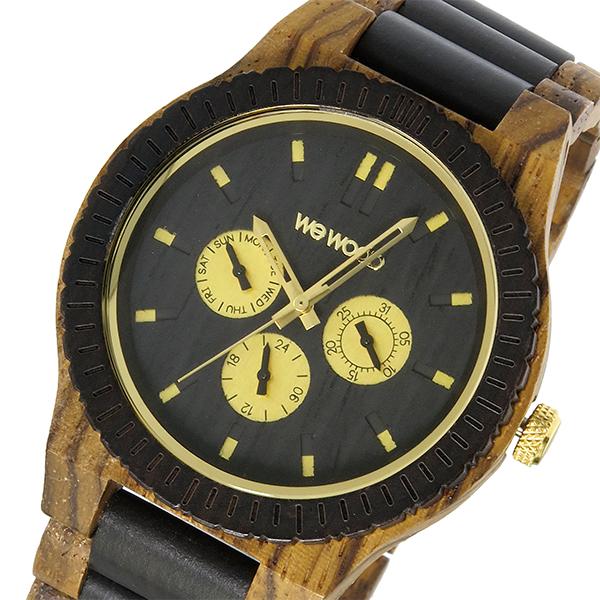 ウィーウッド WEWOOD 木製 KAPPA ZEBRANO CHOCO カッパー メンズ 腕時計 時計 9818110 ブラック 国内正規