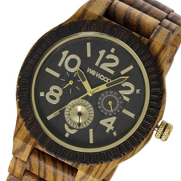 ウィーウッド WEWOOD 木製 KARDO ZEBRANO CHOCO カード メンズ 腕時計 時計 9818122 ブラック 国内正規