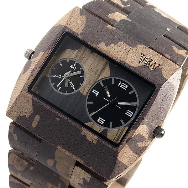 ウィーウッド WEWOOD 木製 メンズ 腕時計 時計 JUPITER-NACA-NUT ブラウン/カモ 9818091 国内正規