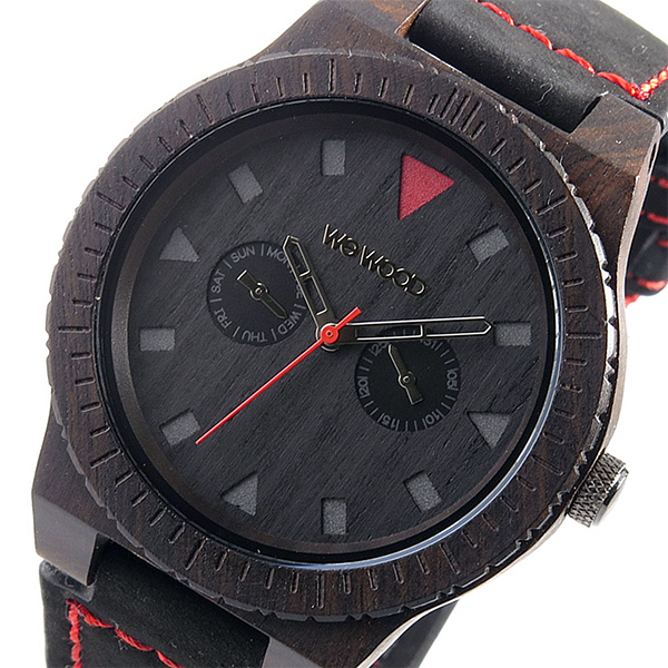 ウィーウッド WEWOOD 木製 メンズ 腕時計 時計 LEO-TERRA-BLACK ブラック 9818094 国内正規