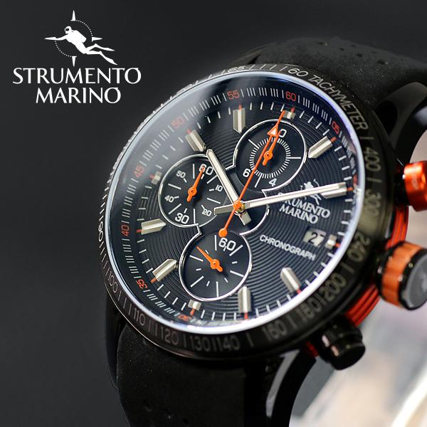 ストルメントマリーノ STRUMENTO MARINO アドミラル クロノ ダイバーズ メンズ 腕時計 時計 SM110-L-BK-NR-NR ブラック