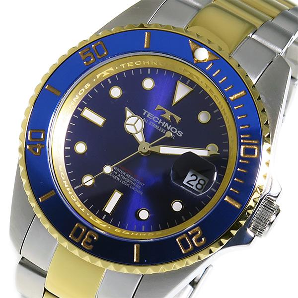 テクノス TECHNOS クオーツ メンズ 腕時計 時計 TSM402TN ブルー