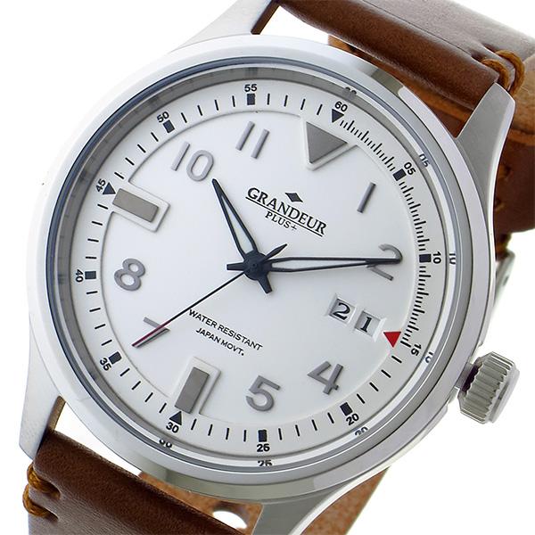 グランドール GRANDEUR プラス PLUS クオーツ メンズ 腕時計 時計 GRP005W1 ホワイト