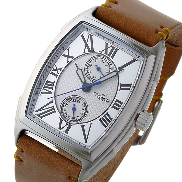 グランドール GRANDEUR プラス PLUS クオーツ メンズ 腕時計 時計 GRP006W1 ホワイト