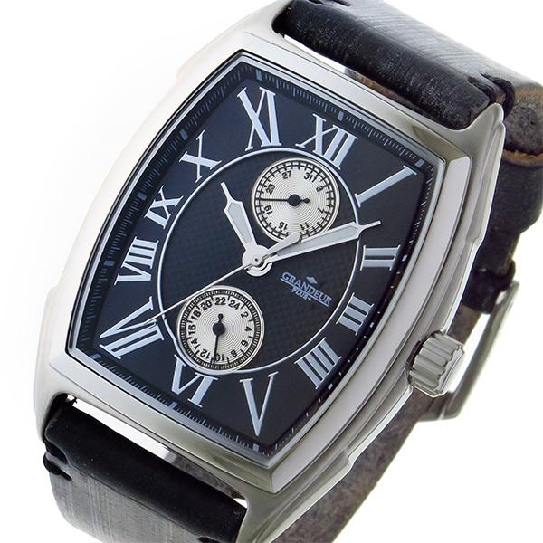グランドール GRANDEUR プラス PLUS クオーツ メンズ 腕時計 時計 GRP006W3 ブラック