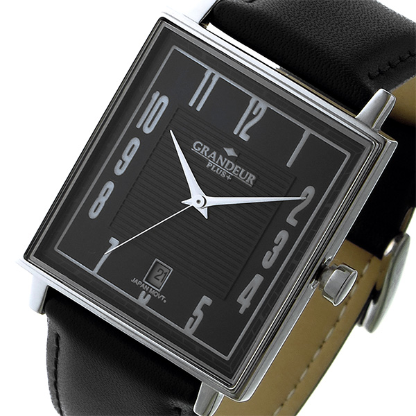 グランドール GRANDEUR プラス PLUS クオーツ ユニセックス 腕時計 時計 GRP009W1 ブラック