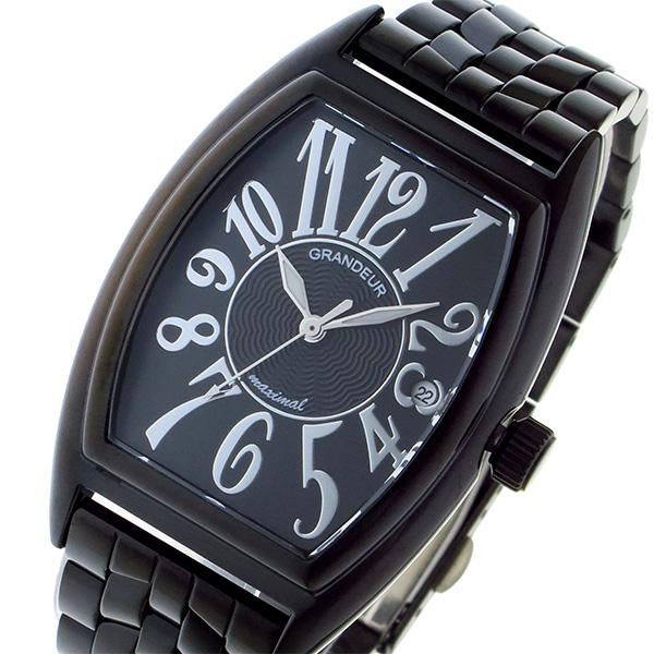 グランドール GRANDEUR 日本製 made in japan クオーツ メンズ 腕時計 時計 JGR001B1 ブラック