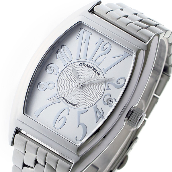 グランドール GRANDEUR 日本製 made in japan クオーツ メンズ 腕時計 時計 JGR001W1 ホワイト