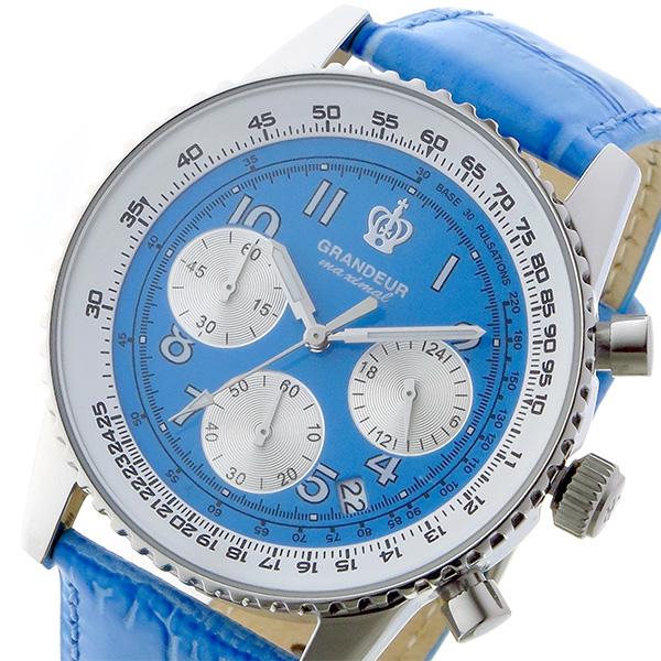 グランドール GRANDEUR 日本製 made in japan クロノ クオーツ メンズ 腕時計 時計 JOSC028W5 ブルー