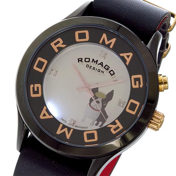 ロマゴデザイン ROMAGO DESIGN チチ ニューヨーク コラボ 限定品 レディース 腕時計 時計 RM067-0512ST-BK
