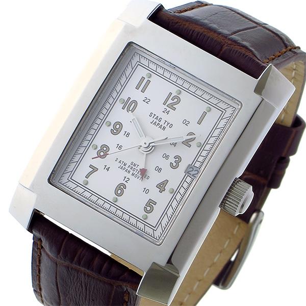 スタッグ STAG TYO クオーツ メンズ 腕時計 時計 STG015S1 ホワイト