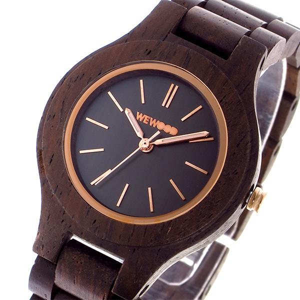 ウィーウッド WEWOOD ANTEA CHOCOLATE クオーツ レディース 腕時計 時計 9818128 ブラック 国内正規